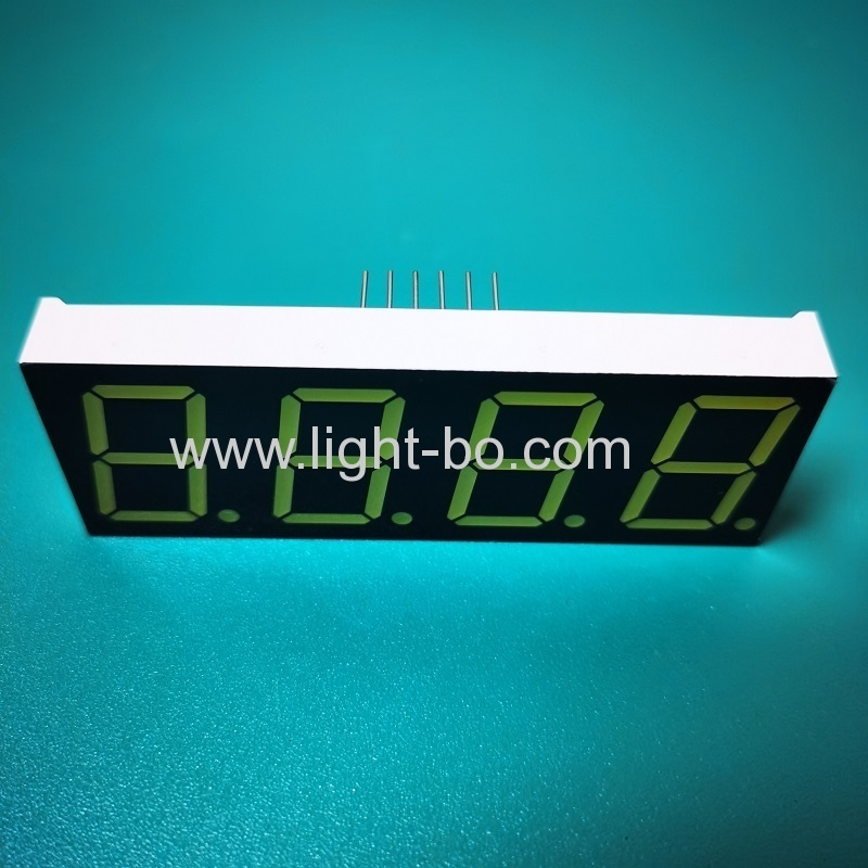 Ultra white 4 Digit 0.8inch 7 Segment LED Display common anode for Instrument Panel
