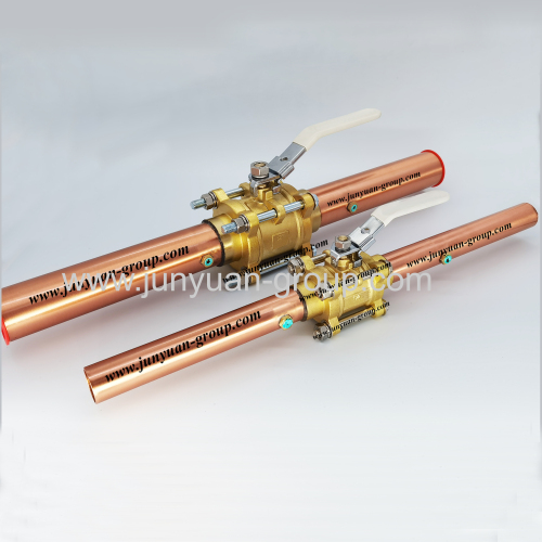 3pcs brass ball valve with extensions for oxygen