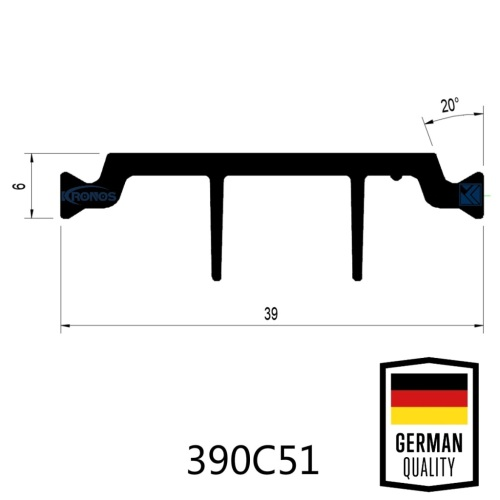 39mm Thermal Break Euro Groove Design Polyamide Thermal Barrier Strips
