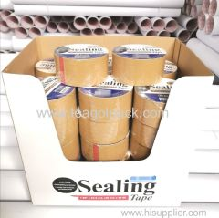 "48mmx50M BOPP Carton Sealing Tape Brown 1.88""x54.6yrd. Display Box Packing"