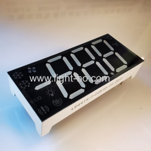 Ultra Red Customized Triple Digit 7 Segment LED Display common anode for Refrigerator