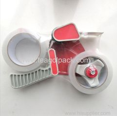 48mmx75M Tape Dispenser With 2 Rolls Packing Tape transparent white