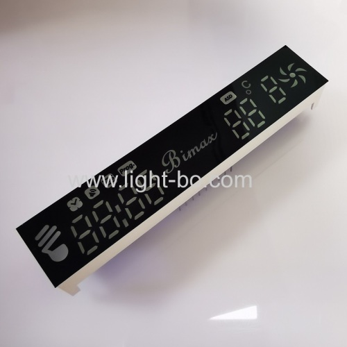 Customized ultra bright orange 7 Segment LED Display Module for Kitchen Hood Control