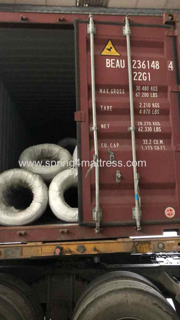 steel wire finished loading