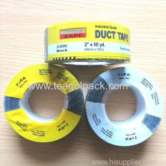 "48mmx55M Black Cloth Duct Tape with Printed Shrink film 2""x60yd"