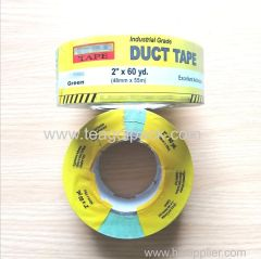 "48mmx50M Green Adhesive Cloth Duct Tape With Printed Shrink Film 2""x60yd"