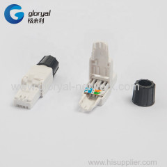 RJ45 CAT.6A OR CAT.6 OR CAT.5E 8P8C UTP TOOLLESS PLUG