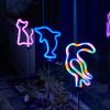 LED Garden Light Simulated Flamingo Lawn Lamp Waterproof Led Lights Outdoor Neon Garden Decoration Landscape Light
