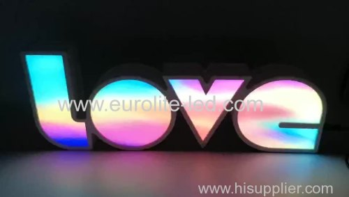LOVE Alphabet Lights Colorful LED Letter Lamp Decoration Night Light for Party Bedroom Wedding Birthday Christmas Decor