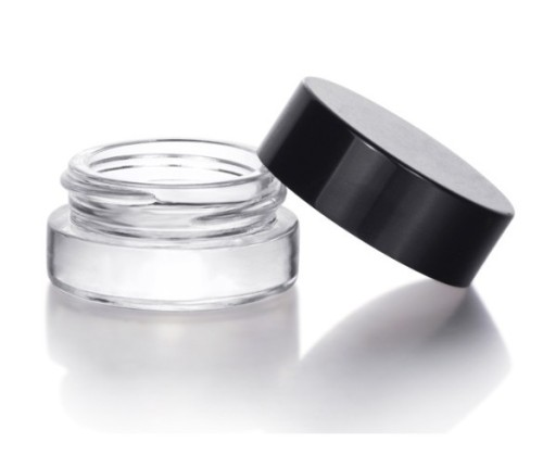3ml 5ml 7ml glass jar with child resistant cap child proof CBD packaging