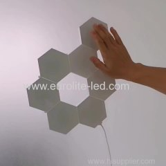 Special Christmas Gift Creative DIY RGB Quantum Lamp LED Beehive Light Modular Touch Sensitive Remote Control Wall Light
