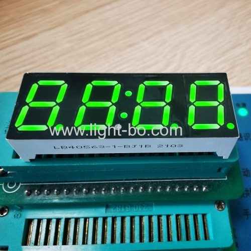 "Super bright Green 0.56"" 4 Digit 7 Segment LED Clock Display common anode for oven timer"