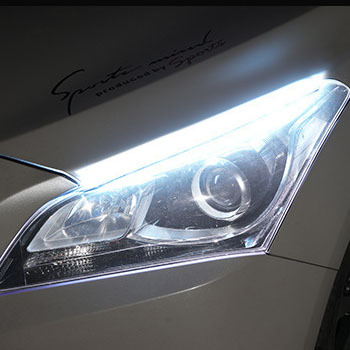 Automotive LED light guide strip daytime running light with turning headlight silicone decorative light strip