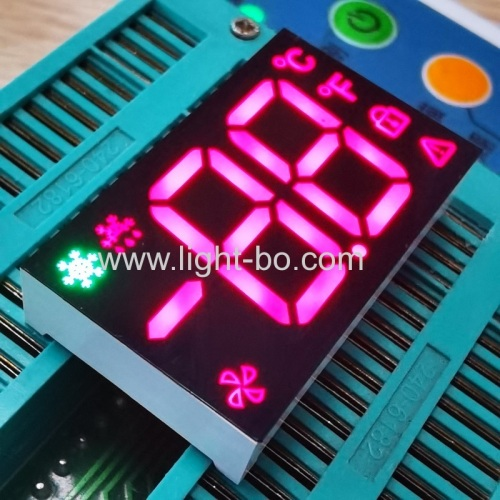 Ultra Red / Pure Green Dual Digit 7 Segment LED Display with minus sign for Refrigerator Controller