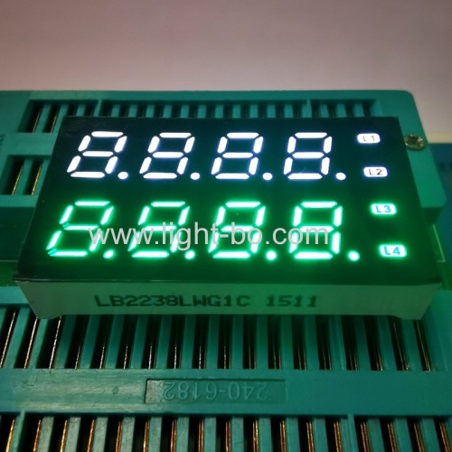 OEM Ultra white & Pure Green 7mm 8 digit seven segment led display for instrument panel