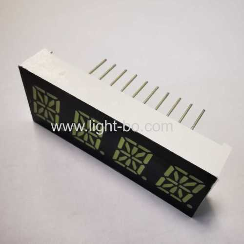 Ultra bright white 0.39inch 16-segment 4-digit LED alphanumeric display common anode for Intrument Panel