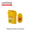 Plastic Medical Needle Box Pocket Sharps Disposal Container 0.2L Waste Sharp Bin Container for Health Care