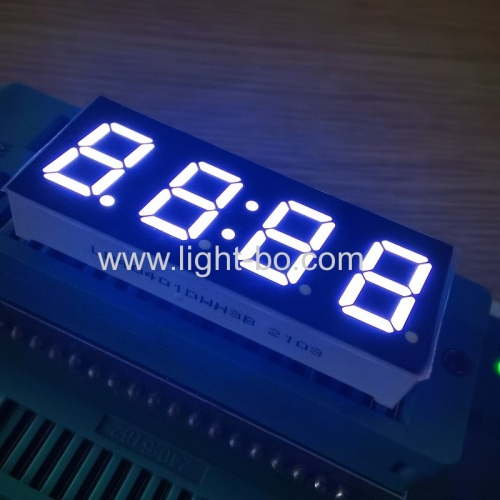 "Ultra white 0.4"" 4 Digit 7 Segment LED Clock Display common cathode for Home appliances Control Panel"