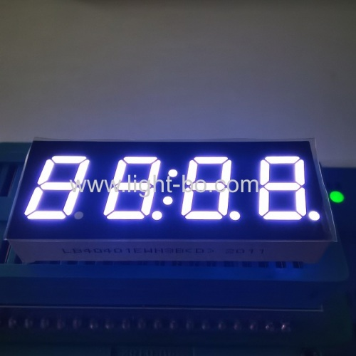 "Ultra White 4-Digit 7 segment led display 0.4"" common cathode for instrument panel"