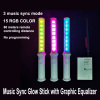 Light up Music Sync Flashing Glow Stick with Graphic Equalizer