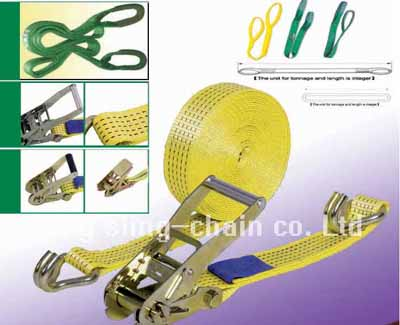 ratchet tie down, cargo lashing strap