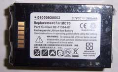 barcode scanner battery for Symbol MC70