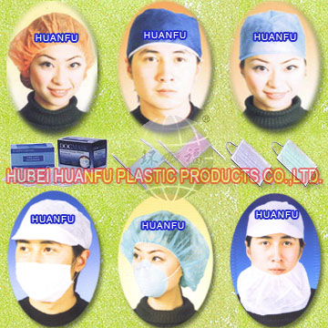 Non-woven caps, clip cap, pleated cap, round cap, shower cap, medical cap