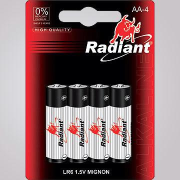 LR6-M4B High-Efficiency AA Size Alkaline Battery in Blister Pack
