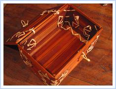 bamboo gift basket box