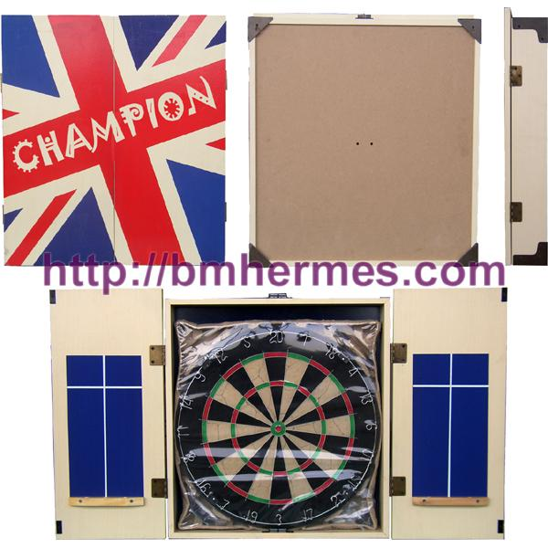 Wooden cabinet with Bristle dartboard