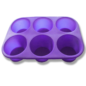Silicone Bakeware-6 Cup Muffin Pan