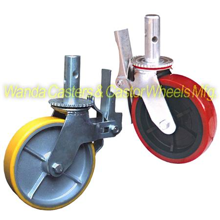 Polyurethane Scaffold Caster With Plastic Core Or Iron Core