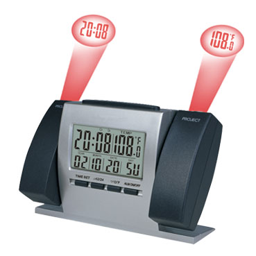 Projection Clock w- Calendar & Thermometer