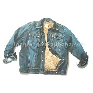 Men' s Denim Jackets W-sherpa Lining