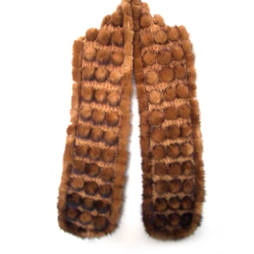 Mink Knitted Scarf
