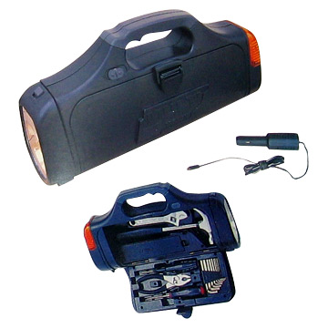 Multifunctional Tool Kit With Torches