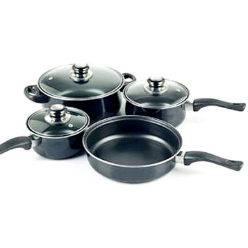 7pcs Cookware with Glass Lids