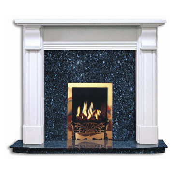 Imitation Stone Fireplace