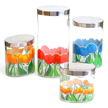Ellipse Storage Container Set with Decal