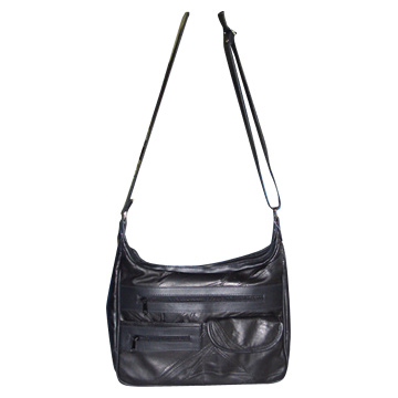 Patched Leather Bag