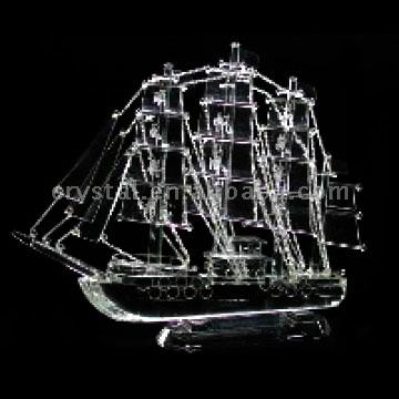 Crystal Sailing Ship Models