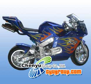 Pocket Bike (CYMT-A7) - 49cc, Single Cylinder, Air-Cooling, 2 Stroke, CVT Systems