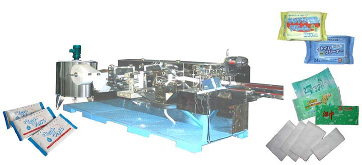 automatic wet wipe/tissue folding machine