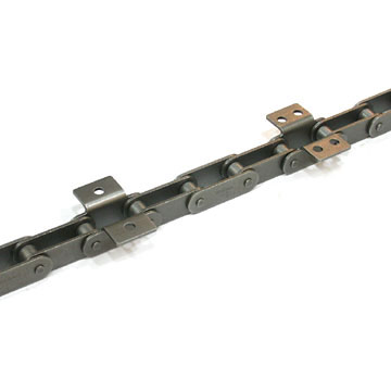 Double-Pitch Conveyor Chain with Attachment
