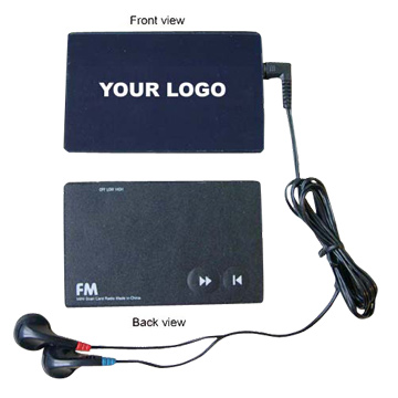 Credit Card Shaped FM Auto Scan Radio