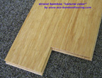 Strand woven bamboo flooring, natural/sand color