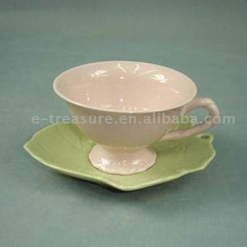 Stoneware Cup & Saucer
