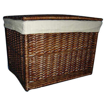 Oblong Willow Basket with Liner (S-2)