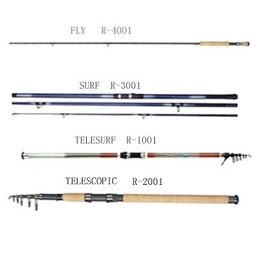 Telescopic, Surf and Fly Rod