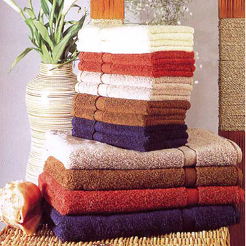 Terry Bath Towels With Satin Borders